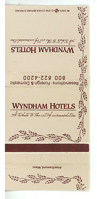 Match Book Cover Wyndham Hotels