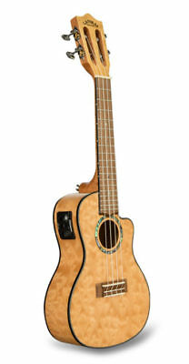 Lanikai QMNA-CEC Concert Quilted Maple Natural Acoustic/Electric Ukulele & Bag
