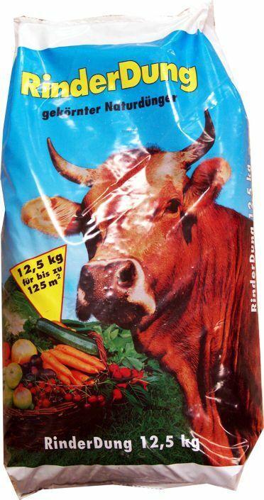 Rinderdung 12,5 kg Pellets Rind Rinderkacke Kuhmist Gartendünger Rinder Dung