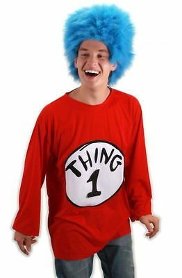 Thing 1 Costumes (New Dr. Seuss Thing 1 Adult Unisex Costume by Elope Size L/XL 402160)