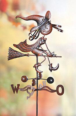 Hexi XL Metall Wetterfahne kleine Hexe Wetterhexe Wetterhahn Windspiel Windfahne