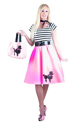 BUBBLEGUM POODLE DRESS ADULT HALLOWEEN COSTUME X-SMALL