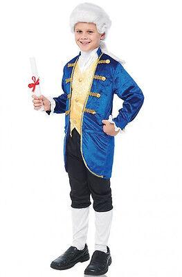CHILD BLUE ARISTOCRAT GEORGE WASHINGTON COLONIAL COSTUME BOYS JACKET KNICKERS ](Kids George Washington Costume)