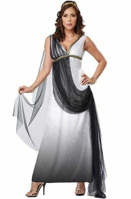 Roman Empress Goddess Women's Costume, Womens Roman Greek Goddess Toga Costume