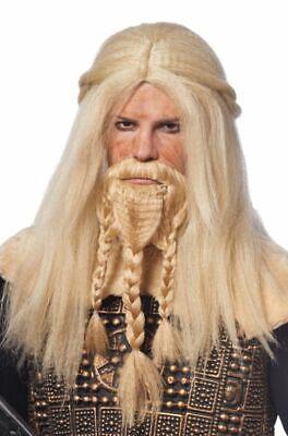 Costume Culture Viking Wig & Beard Blonde Halloween Costume Accessory 21083-11](Beard Halloween Costumes)