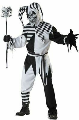 Jester Halloween Costumes Adults (California Costumes Nobody's Fool Jester Mens Adult Halloween Costume)