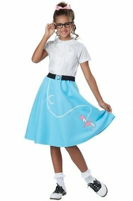 50's Blue Poodle Skirt Child Costume - 50 S Costumes