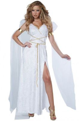 Womens Glorious Roman Greek Athenian Goddess Full Halloween Costume Set Dress