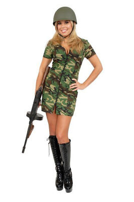 DOUBLE ZIP GI GAL ADULT HALLOWEEN COSTUME SIZE MEDIUM -
