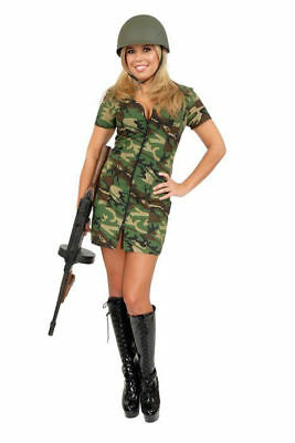 DOUBLE ZIP GI GAL ADULT HALLOWEEN COSTUME SIZE X-LARGE -