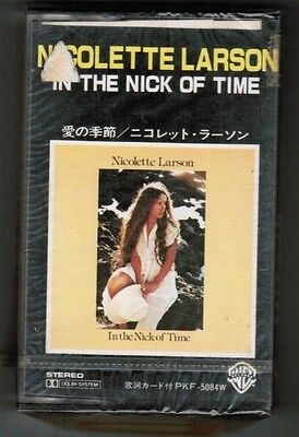 Sealed! NICOLETTE LARSON In The Nick Of Time JAPAN CASSETTE TAPE w/PS PKF-5084W