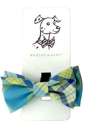 NEW Turquoise Madras Plaid Dog Bow Tie Collar Attachment by Huxley & Kent Madras Bow Tie