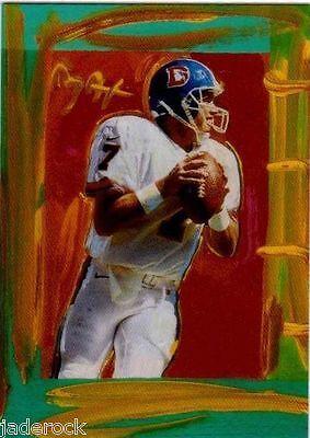 John Elway 1997 Topps Gallery Peter Max Serigraph Art Insert PM4 RARE  - $30.07
