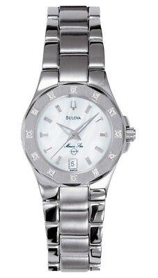 Bulova 96R24 Women's Marine Star Mother-Of-Pearl Dial Diamond Bezel Dress Watch