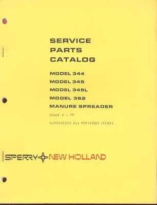 New Holland 344345362 Manure Spreader Parts Catalog