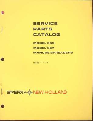 New Holland 363367 Manure Spreader Service Parts Catalog