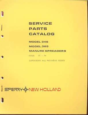 New Holland 346365 Manure Spreader Service Parts Catalog