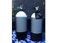 12 litre short 232 bar dive cylinders