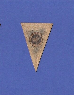 c1910 L51 tobacco leather pennant shaped PURDUE UNIVERSITY