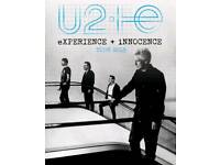 U2 TICKETS. MANCHESTER. Friday 19th October 2018.