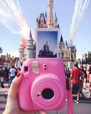 New Fuji Instax Mini 9 Flamingo Pink Camera with Mini Film