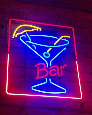 New Bar Martini Cup Glass Light Lamp Beer Neon Sign 24
