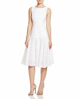 - NEW BLACK HALO VOGUE W/ MESH LACE SKIRT DRESS SIZE 10 $435 WHITE NORDSTROM