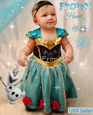 Baby Girl Toddler Anna Coronation Dress Frozen Inspired Costume Halloween 9m-4US (Toddler Anna Costume)