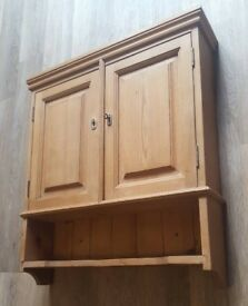 Wooden Wall Cabinet Lockable with Shelf