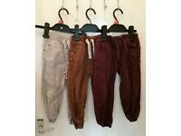 5 pairs of boys trousers and jogging bottoms aged 3-4 years