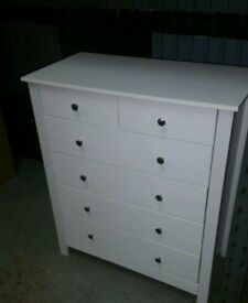 A brand new very good quality white finish 4x2 drawer chest.