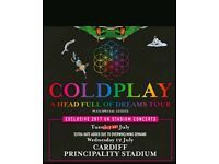 Coldplay Cardiff 11th july