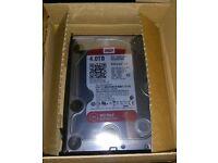 4TB western digital red hard drive