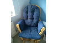 Blue nursery chair & footstool