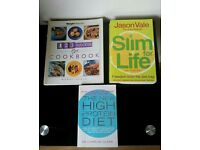 3 Paperback Diet Recipe Books