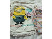3 to 4 girls pyjamas x 3
