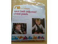 Seat belt/chest pads