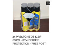 LAST ONE, PRESTONE DE-ICER, 600ml cans, the best you can buy, 6 Cans £9, BNIB,