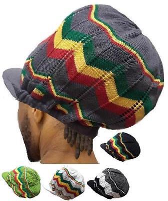 L/XL Dreadlocks Rasta Hat Rastafari Africa Jamaica Tam Cap Long Tall Crown Cap (Dreadlocks Hat)