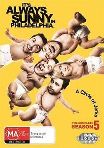 It's Always Sunny In Philadelphia : Season 5 (DVD, 2012, 3-Disc Set) SEALED