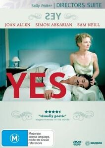 YES-JOAN ALLEN SAM NEILL NEW/SEALED  DVD DIRECTOR'S SUITE SALLY POTTER MADMAN