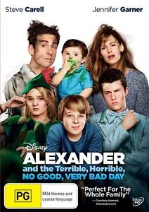 Alexander and the Terrible, Horrible, No Good, Very Bad Day (DVD, 2015) NEW R4