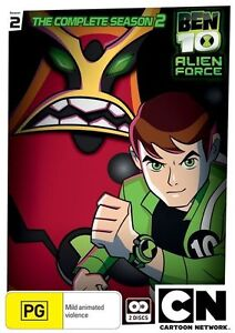 Ben 10 - Alien Force :Season 2 (DVD, 2-Disc) Bonus Comic & School Bag Tag *NEW