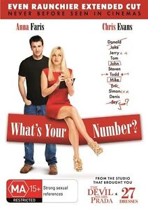 What's Your Number? (2011) Anna Faris - NEW DVD - Region 4