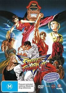 Streetfighter 2 V - Complete Series (DVD, 2006, 4-Disc Set) BRAND NEW FREE POST