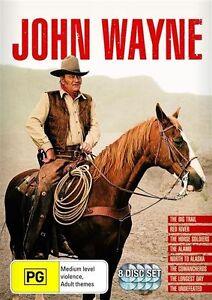 John Wayne DVD 8 Movies Collection The Big Trail/Red River/North to Alaska.. R4