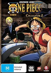 ONE PIECE (Uncut) Collection 2 New & Sealed Animation DVD M R4 Fast & Free Post