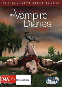 Vampire Diaries : Season 1 (DVD, 2010, 5-Disc Set) Brand New & Sealed Region 4