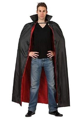 CAPE Black Long VAMPIRE Costume Man Woman Halloween NEW - Cheap Vampire Capes