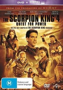 The Scorpion King 4 - Quest For Power (DVD, 2015) R4 New Sealed Free shipping